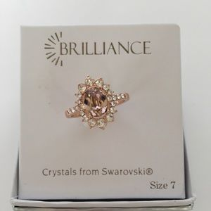NWT In Box Brilliance Crystals from Swarovski Ring